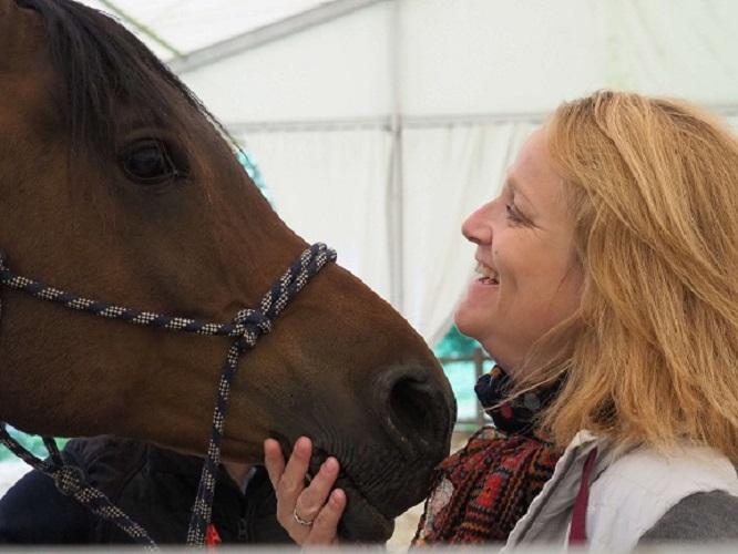 sabrina ricou et son cheval